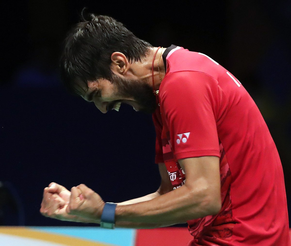 The expression says it all. A tough match but a good win and into my 2nd consecutive Superseries final. #believe #achieve #TeamIndia<br>http://pic.twitter.com/dl43ykziJJ