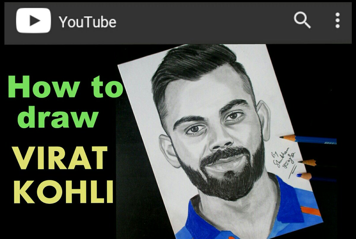 Artist Shubham Dogra على تويتر Learn How To Draw Virat