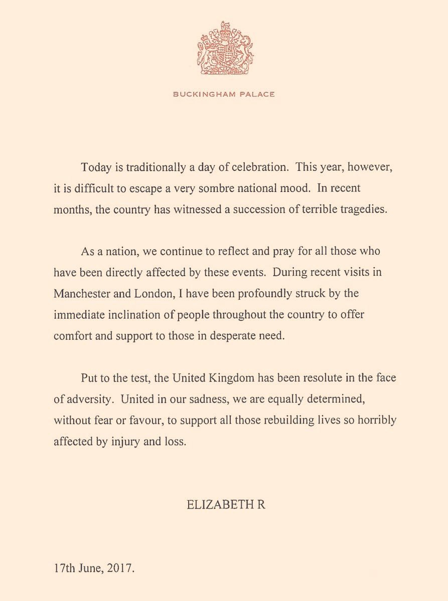 BZ to HM the Queen on this letter #queensbirthday <br>http://pic.twitter.com/XwiXPzbp7y