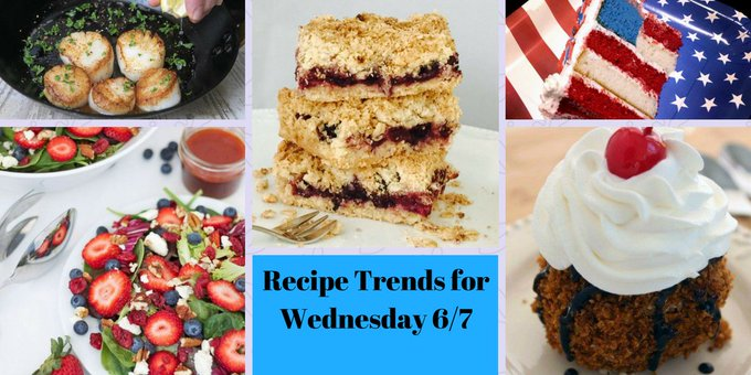 Recipe Trends for Wednesday 6/07 #recipes