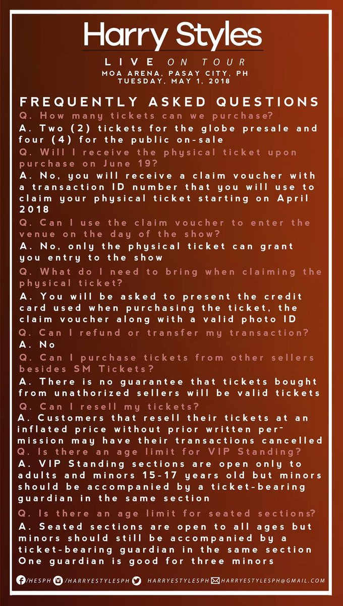 Harry Styles Ph On Twitter Packages Terms And Conditions And