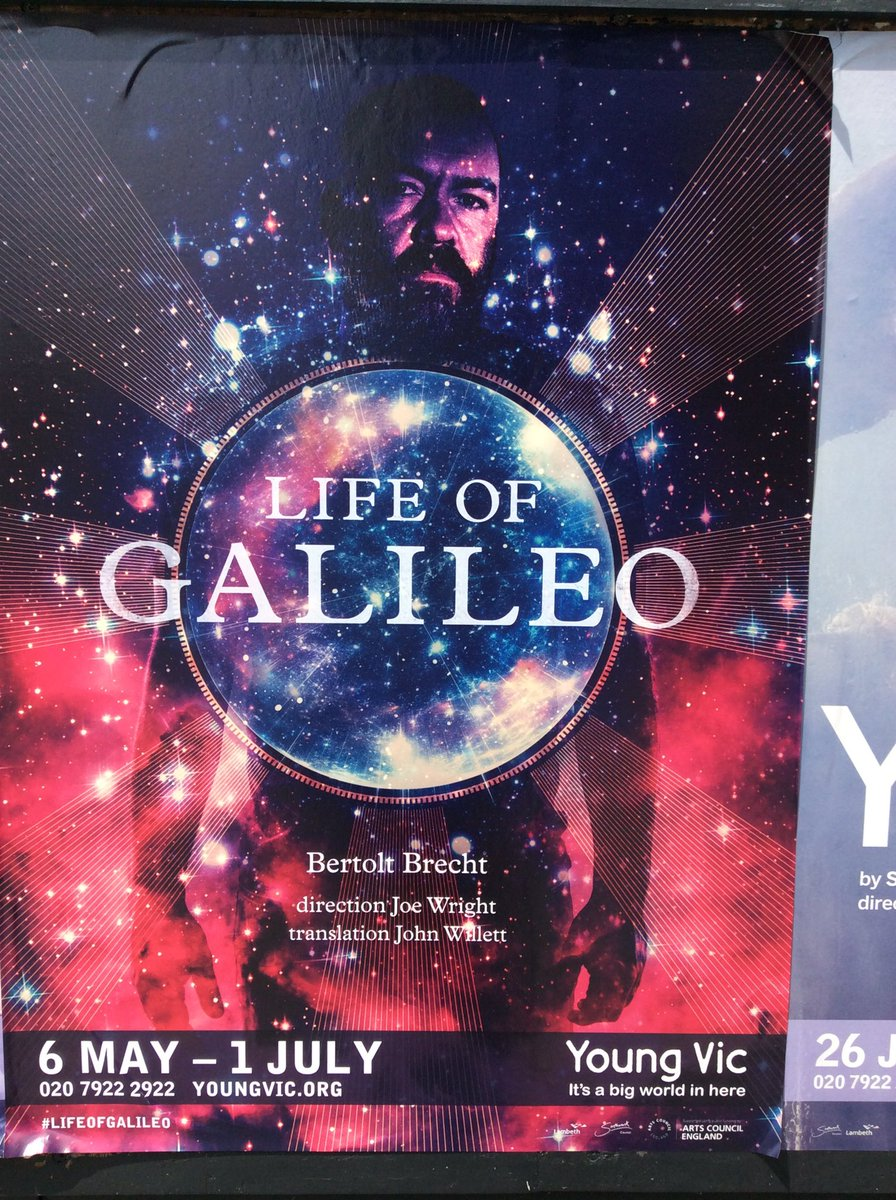 Looking forward to this afternoons matinee of #LifeofGalileo @youngvictheatre<br>http://pic.twitter.com/g1Bel9LRdO