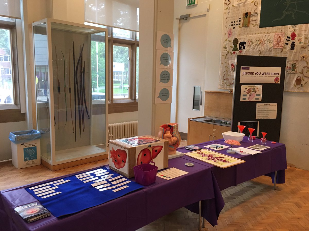 @MFH_Research all ready for #manchestercommunityfestival @SocialResponUoM  #placenta #research #publicengagement <br>http://pic.twitter.com/Ue0pvbjosi &ndash; bij Manchester Museum
