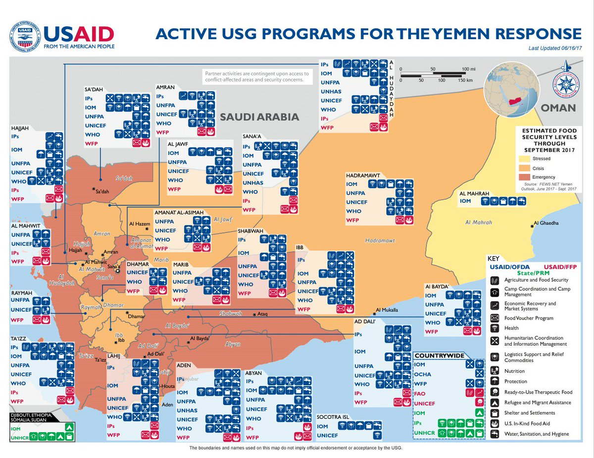 US Embassy Yemen On Twitter Active US Government Programs For - Us embassy in yemen map