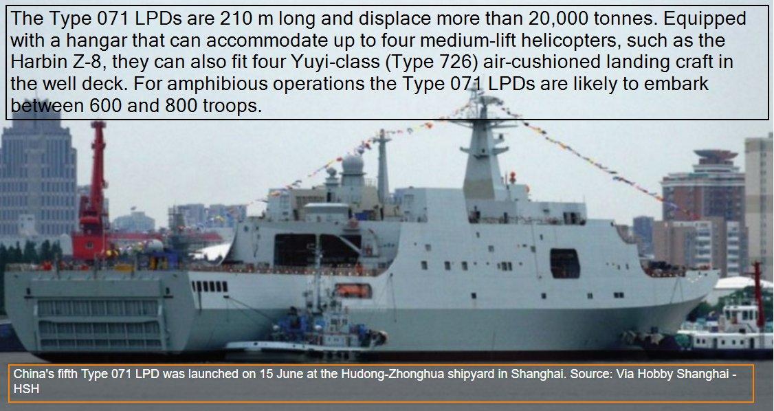 سفينه الانزال البرمائي فئة Type 071 Yuzhao-class الصينيه DCiAZGdVYAEPH72