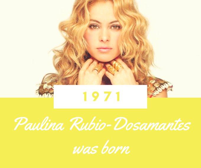 Happy Birthday to Paulina Rubio!