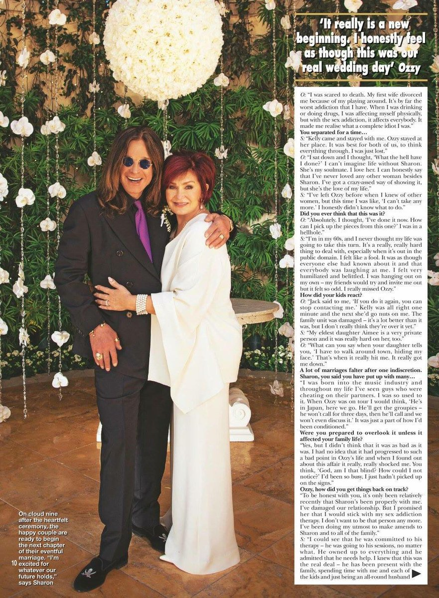 Ozzy Osbourne On Twitter Sharon And I Just After Renewing Our Wedding Vows