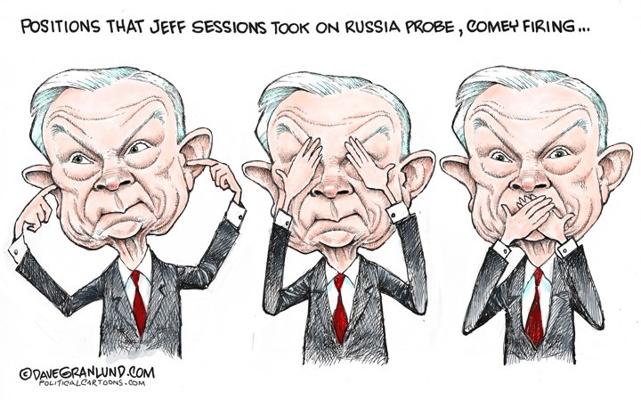 #politicalcartoons #slideshow on @jeffsessions recent testimony. #SessionsHearing #SessionsTestimony #JeffSessions  http:// bayareane.ws/2rrhk3u  &nbsp;  <br>http://pic.twitter.com/vTdzGOmnvm