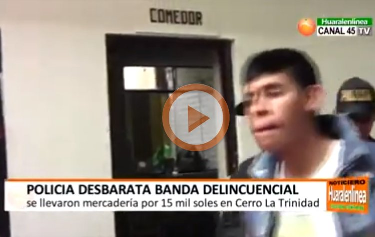 "PNP Chancay captura a integrantes de banda ""Los Socios de Asovisem"" (VIDEO)"