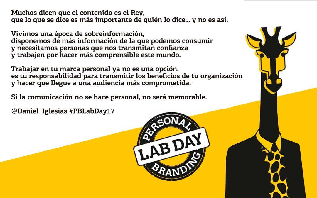 La verdadera importancia del personal branding en las organizaciones, por @Daniel_Iglesias #PBLabDay17 https://t.co/UEchIH8sPP