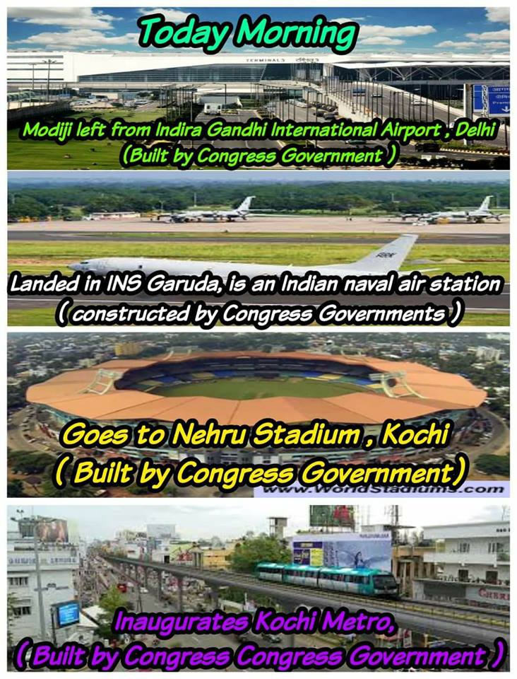 Modi bhakthers always asking what did congress done for india  .its only one #congressforprogress