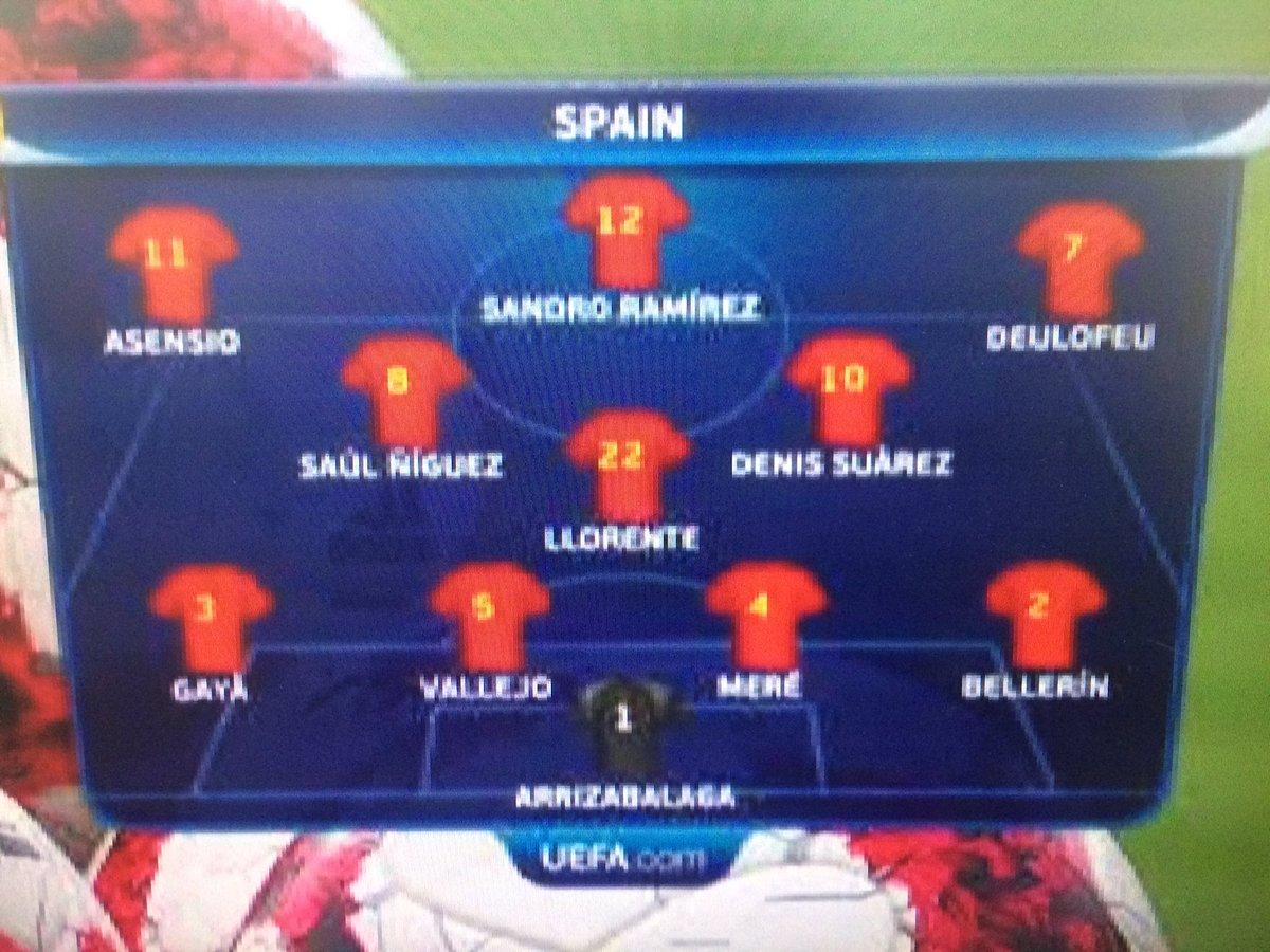Asensio, S.Niguez, Deulofeu, Bellerin titulaires ! Espagne - Macédoine à vivre en direct sur @lachainelequipe à 20h35 #lequipeFOOT #U21EUROpic.twitter.com/315Zc6BL3b