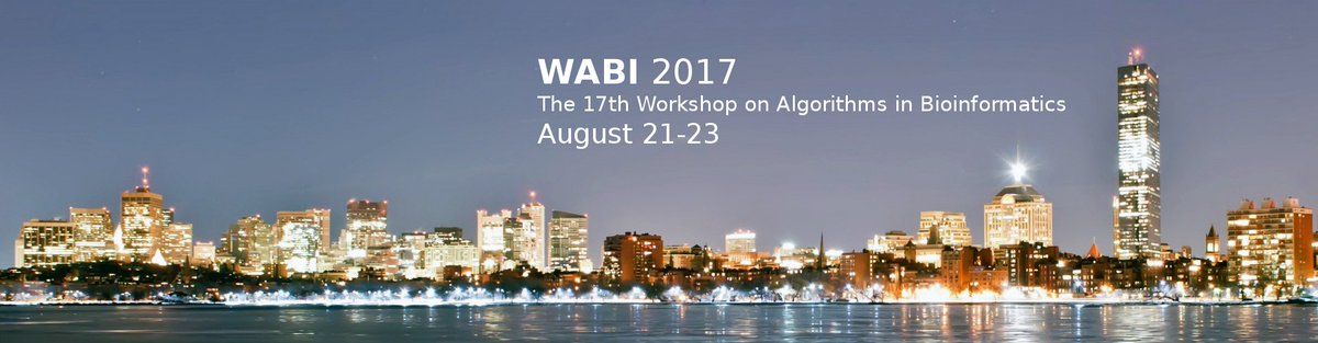 Join us Aug 21 in Boston for WABI,  http://www. acm-bcb.org/WABI/2017/  &nbsp;   Wendy &amp; Quentin&#39;s Shrinkage #Clustering paper will be presented! #AI #algorithms<br>http://pic.twitter.com/WRqxF1TZEp