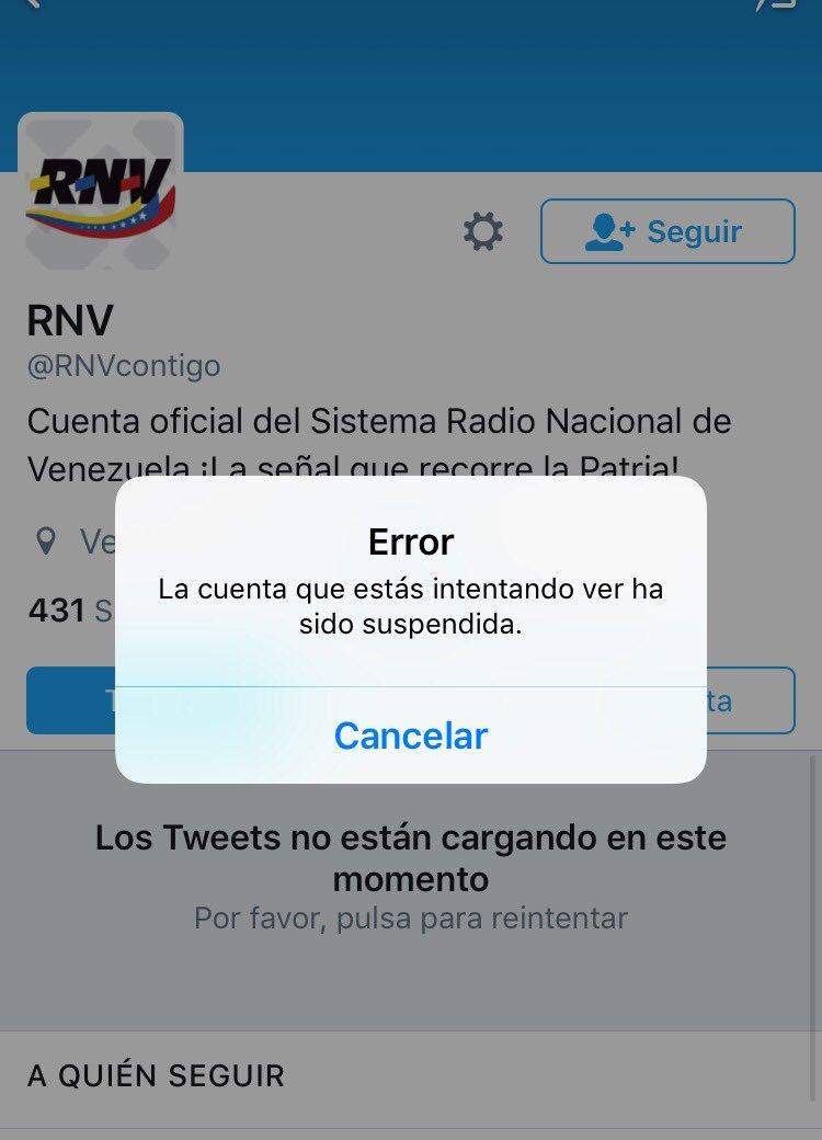#ÚLTIMO Twitter suspendió más de 180 cuentas de entes públicos, líderes y militantes chavistas.