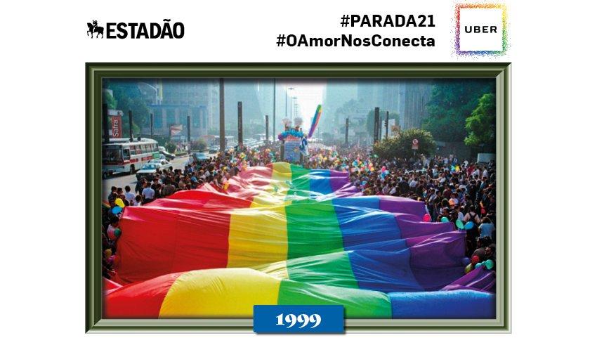 NOVIDADE: neste domingo você pode tuítar #parada21 e em seguida recebe uma foto histórica do evento! Comemore a #paradasp :)