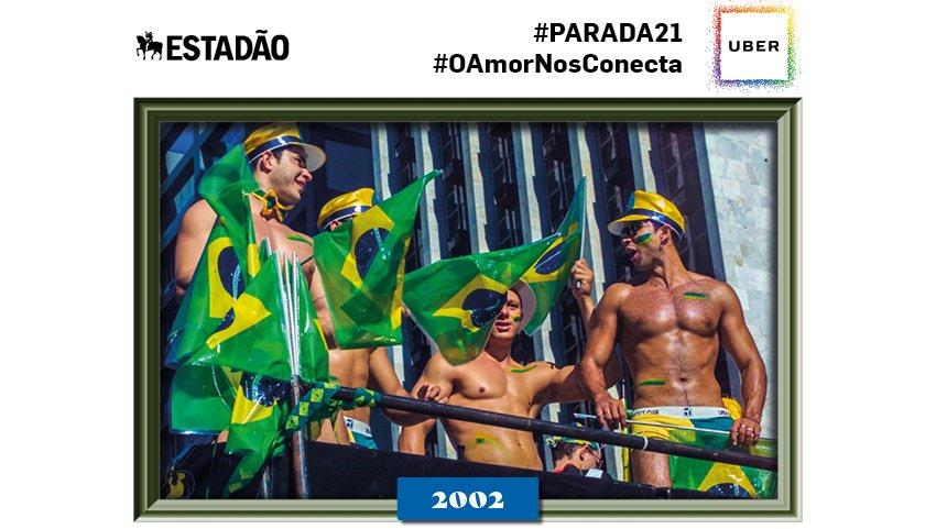 Quer receber uma foto de uma das 20 edições da #paradasp ? Tuíte #parada21 e comemore!