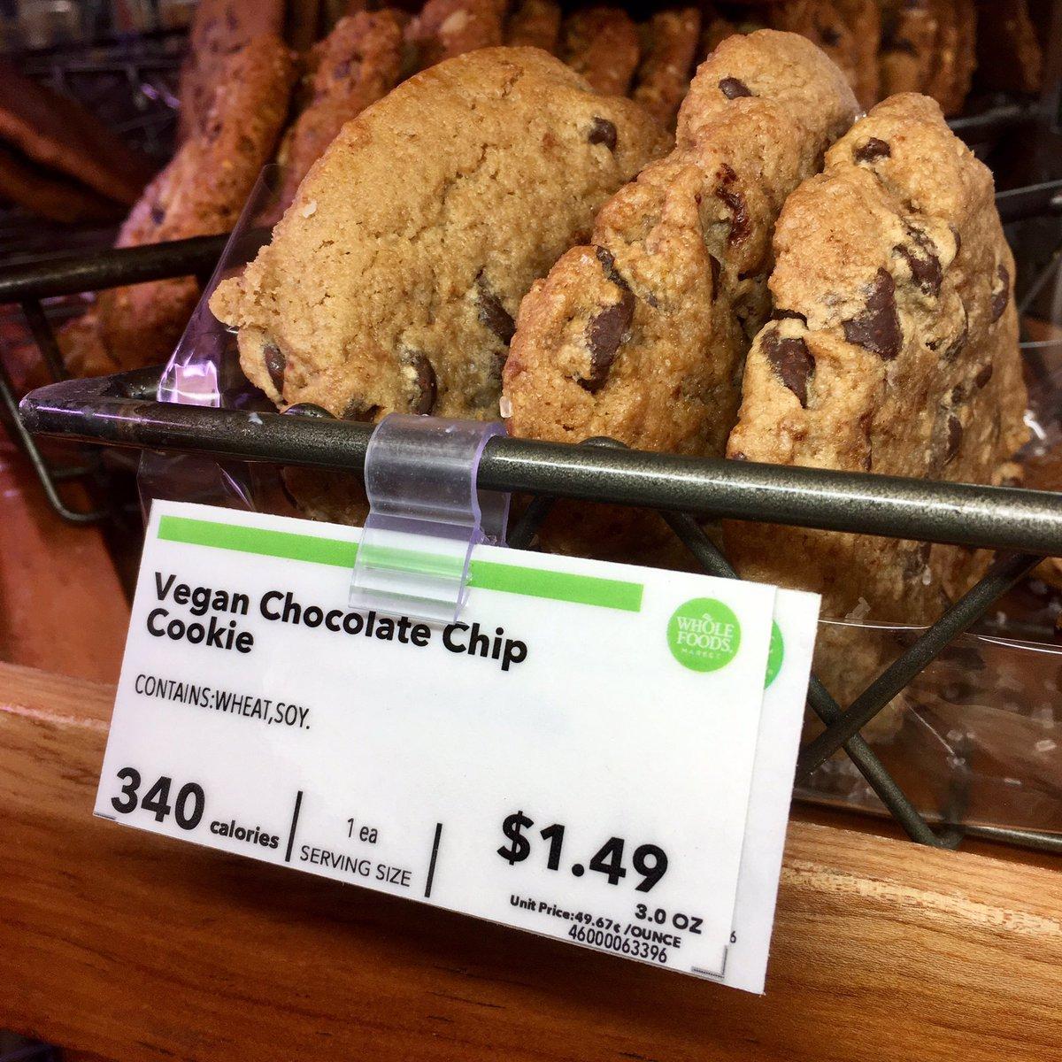 recipe: vegan chocolate chip cookies whole foods [5]