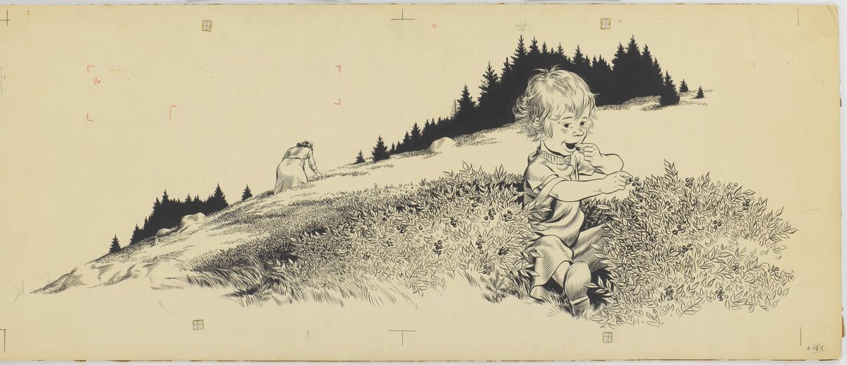 Museum Of Fine Arts Boston On Twitter Robertmccloskey S Blueberries For Sal Is Based On His Daughter Sally Fathersday Is The Last Chance To See His Illustrations At The Mfa Https T Co Y0twr4stgr