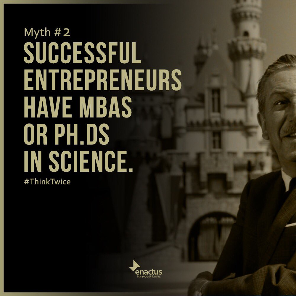 Certificates don&#39;t generate entrepreneurial ideas and aren&#39;t enough to guarantee your success.  #entrepreneurship #enactus #ThinkTwice #myth<br>http://pic.twitter.com/PMUOvbYMXG