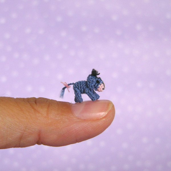 Meet the Tiniest Eeyore Ever Crocheted!