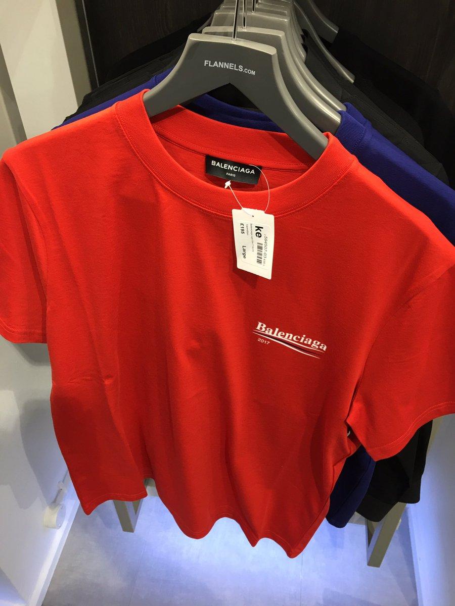 balenciaga t shirt red