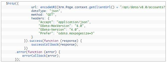 Execute Web API request using Angular JS in Dynamics CRM