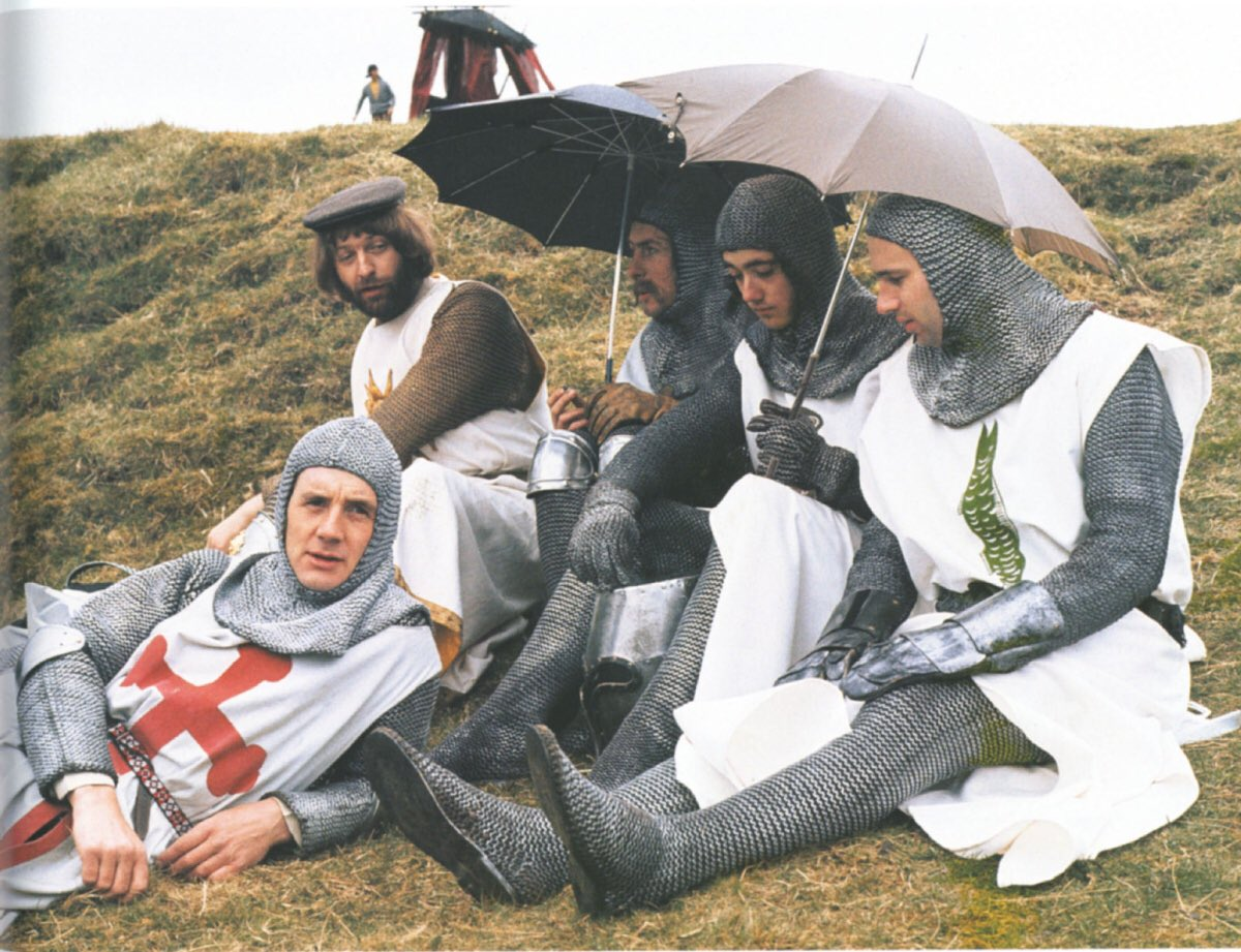 Behind the scenes pic of the day: Monty Python and the Holy Grail #MontyPython #MichaelPalin #GrahamChapman #TerryJones<br>http://pic.twitter.com/Bo46RynwSj
