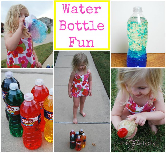 Water Bottle Fun in 5 Ways