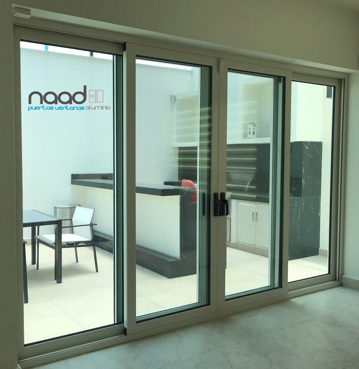Naad aluminio on twitter puerta corrediza de aluminio for Puertas corredizas de aluminio