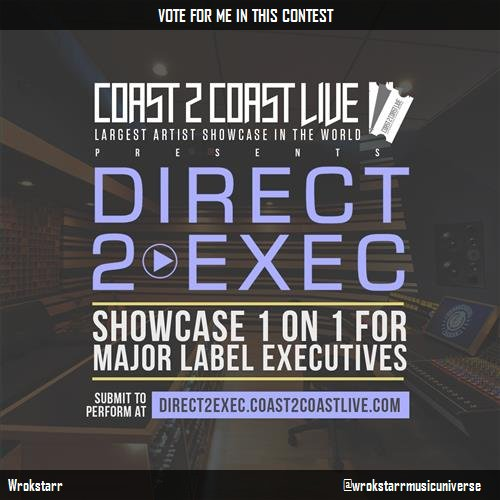 Just voted for @wrokstarrmusicuniverse to perform at #Direct 2 Exec Los Angeles 7/11/17 - Atlantic Records! http:/ <br>http://pic.twitter.com/eJgy7tbJC1