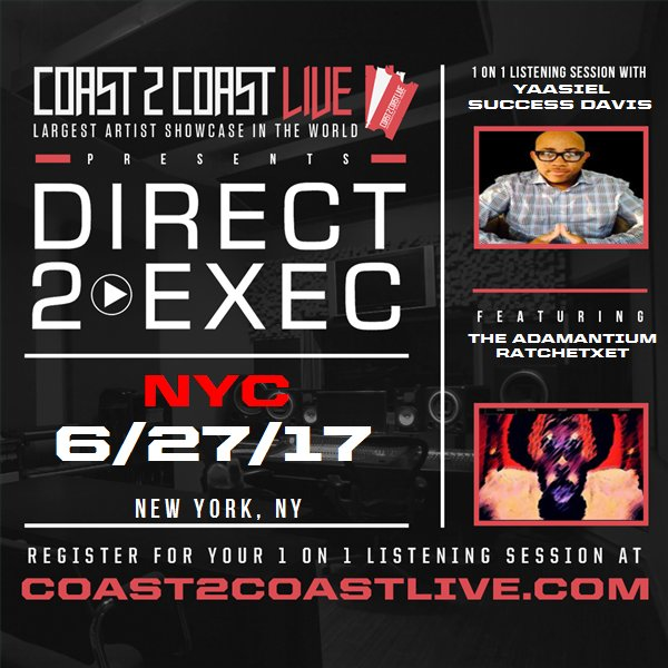 Vote for me to perform at #Direct 2 Exec NYC 6/27/17 - Atlantic Records!  http:// c2c.fm/Nn75Jg  &nbsp;   #Coast2Coast<br>http://pic.twitter.com/NkQJXtsSW4
