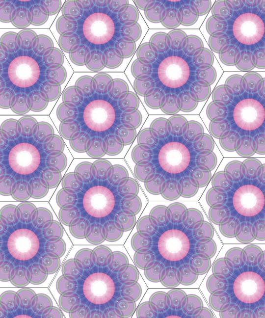 Circles in hexagons. #worldtessellationday  (zoom in close for best view) https://t.co/G5QxwOsqZq