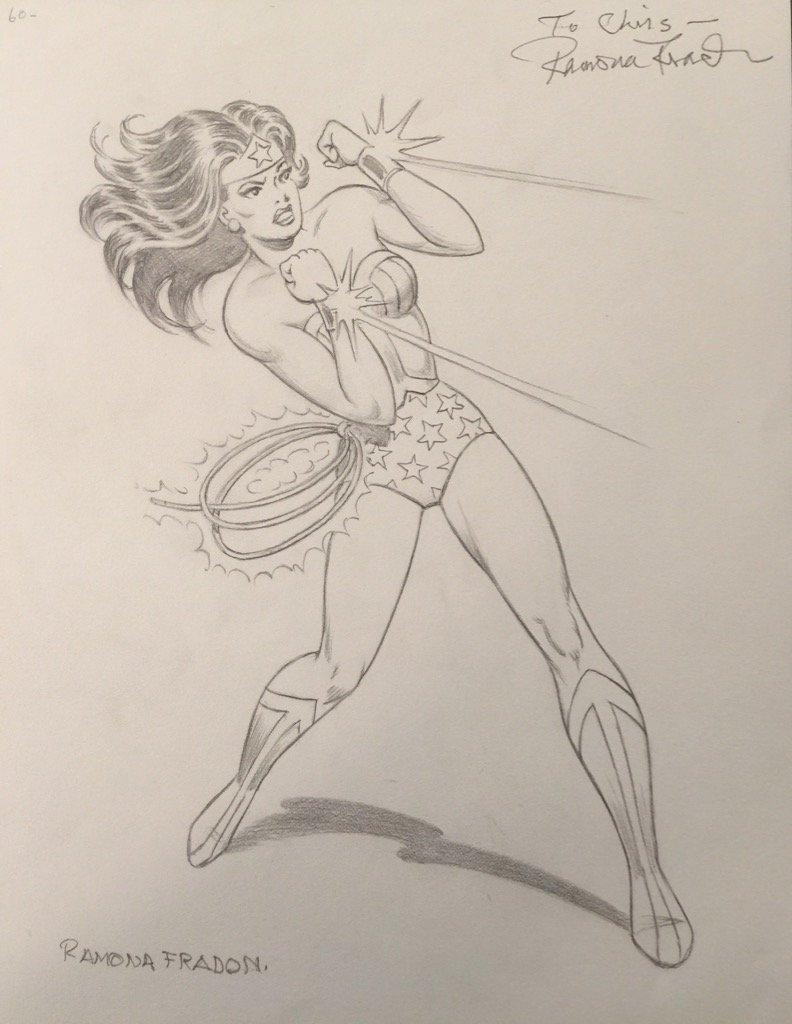 Wonder Woman by the legendary Ramona Fradon. https://t.co/4bACCARuGu