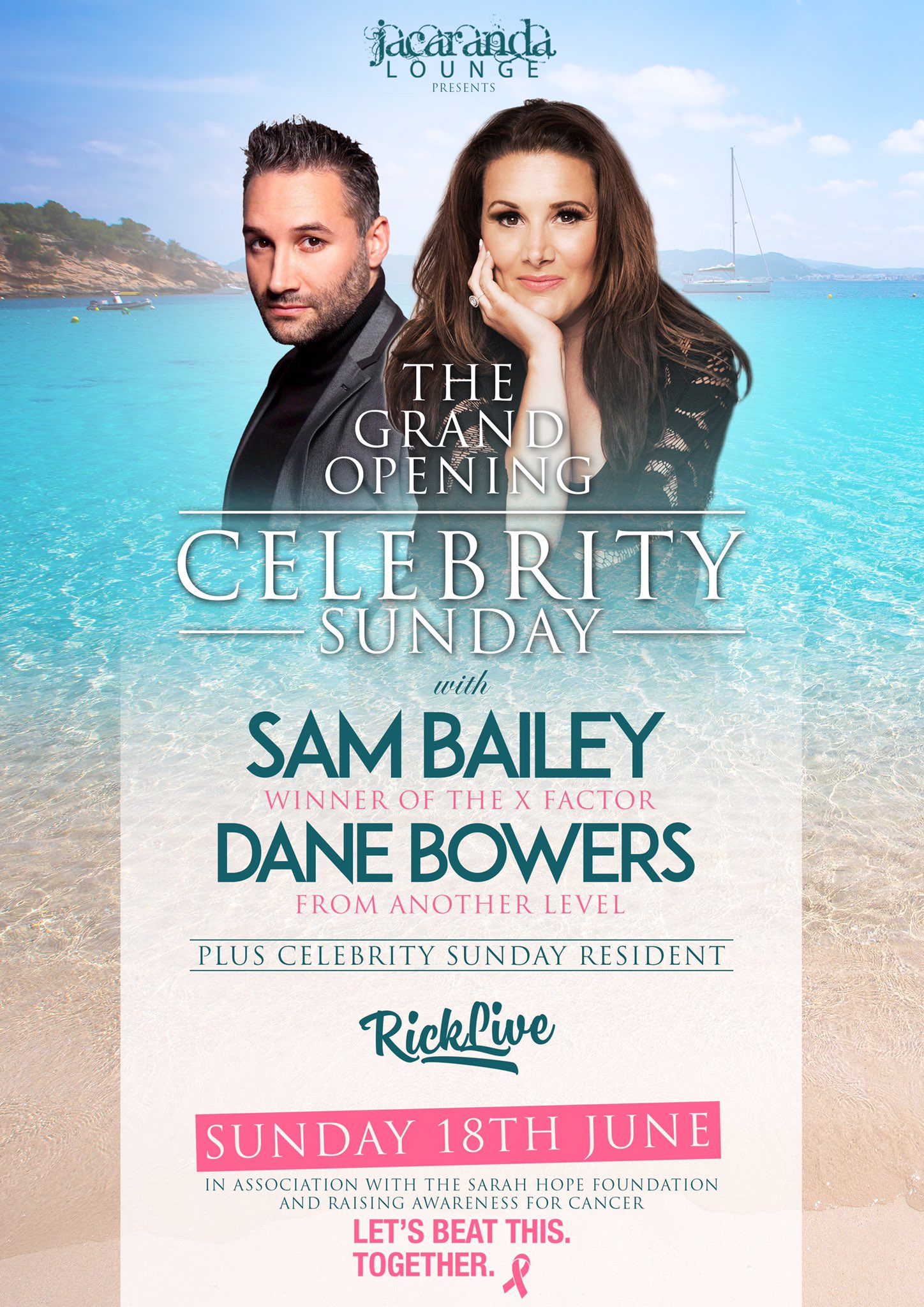 RT @Djricklive: On route back home 🇪🇸🛫 IBIZA Catch me along side @SamBaileyREAL @danebowers  at the Jacaranda Lounge https://t.co/Vt7LdCEVwO