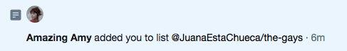 Qué tal la atrevida de @juanaestachueca a la lista que me agrega.