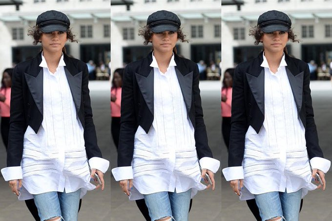 #OOTD: Zendaya has fresh, dressed-down take on the Tuxedo jacket