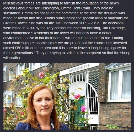 Emma Dent Coad was not on the Board after 2012 when refurbishment decisions  were made #Ridge https://t.co/qzRBbb5UOc
