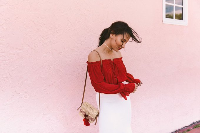 How To Wear LOUD Fiery Red Tops With Style Confidence?