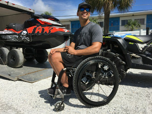 Racer trades wheelchair for personal watercraft