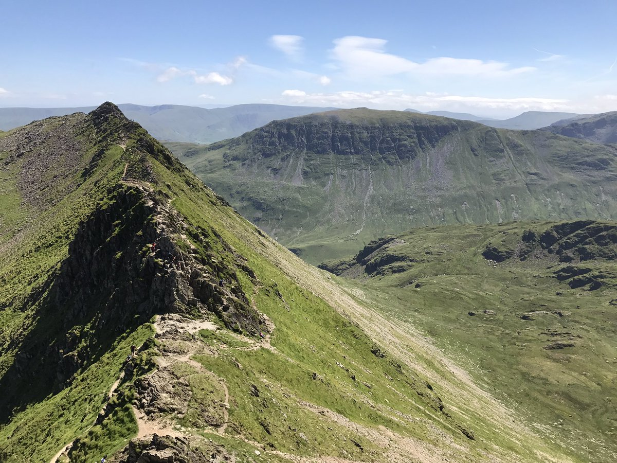 Striding Edge and St Sunday Crag on an epic day in the #lakedistrict yesterday. #theplacetobe https://t.co/AfQB71DYnT