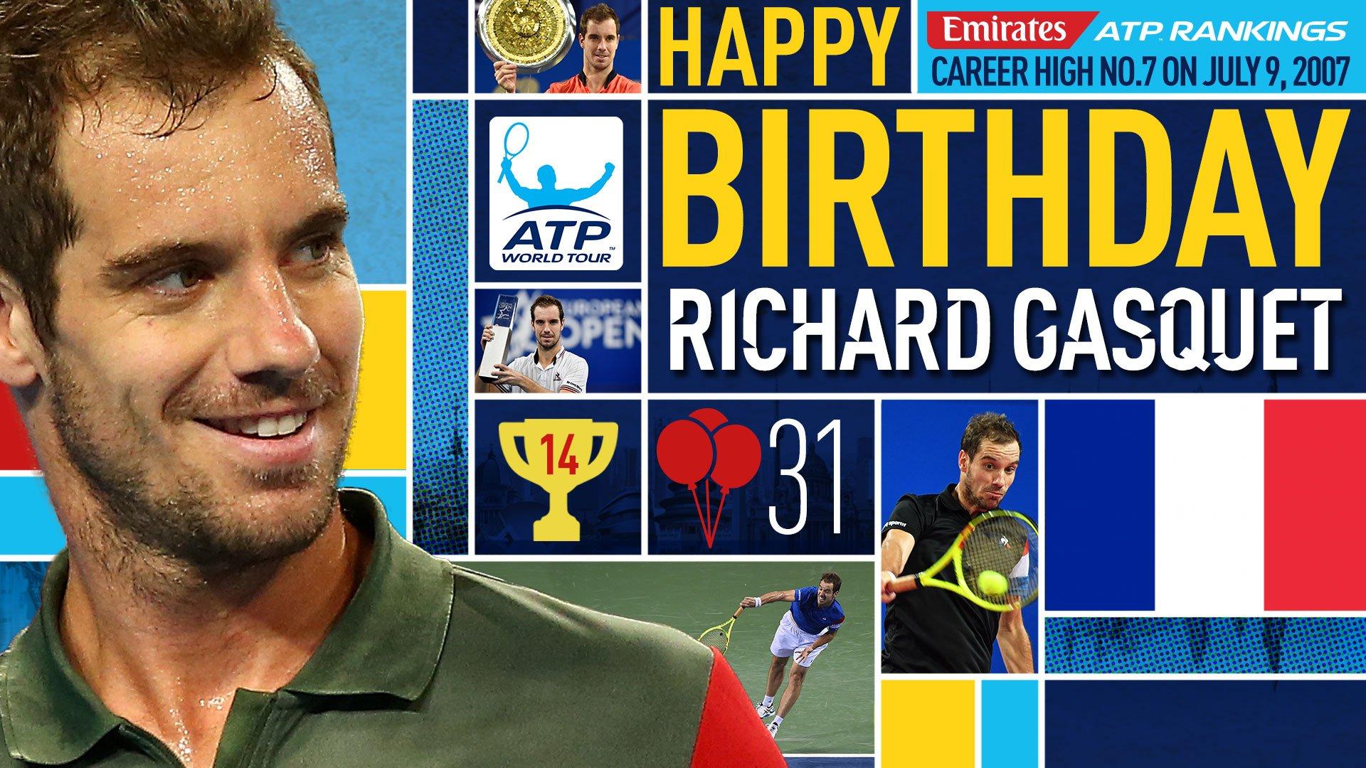 Happy 31st birthday @richardgasquet1! Bon anniversaire! ������ View #ATP Profile: https://t.co/xOJaz99dmX https://t.co/Km1ssvJKyy