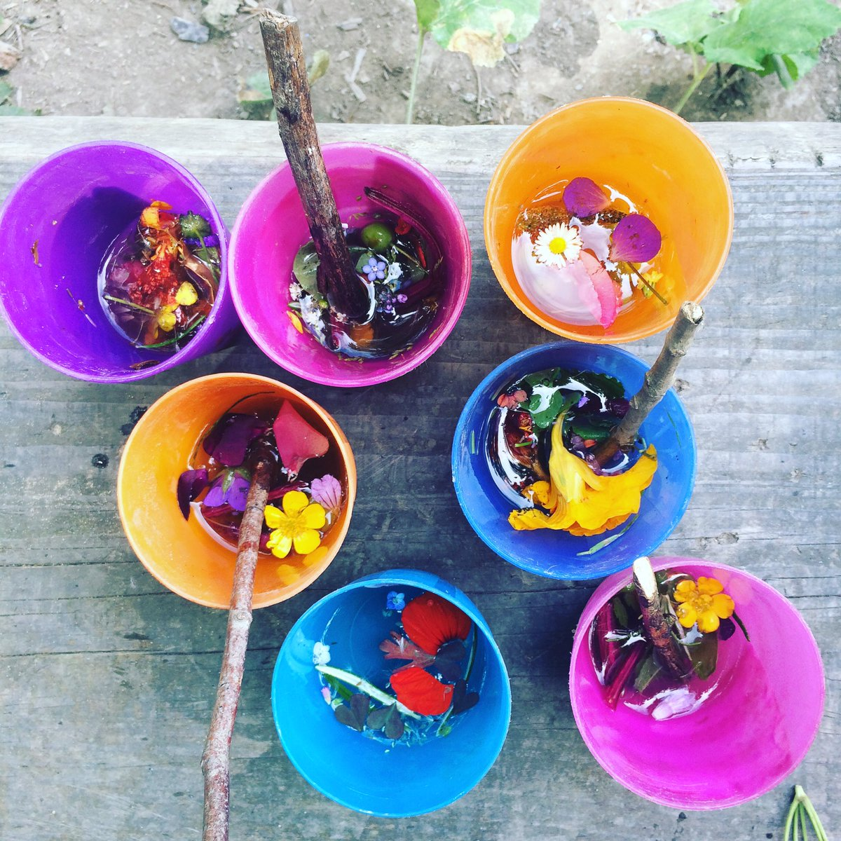 &#39;Potion&#39; making with Reception on Friday. &quot;Mine makes rainbows appear&quot;  #forestschool <br>http://pic.twitter.com/hkFebiaL61