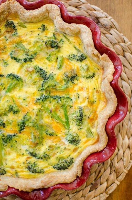 Broccoli Cheddar Quiche — Living Lou