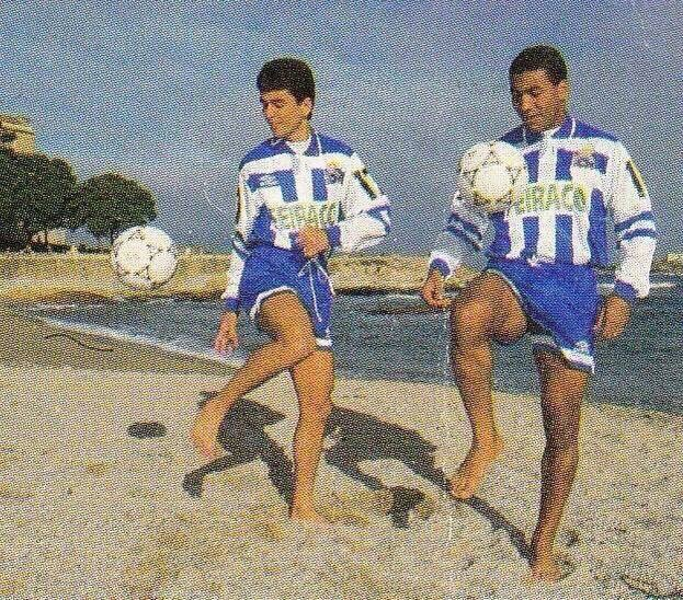 "OldFootballPhotos on Twitter: ""#Bebeto and #MauroSilva in the ..."