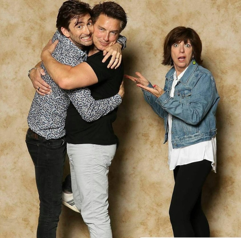David Tennant, John Barrowman and Carole Barrowman at Awesome Con - 17/6/17