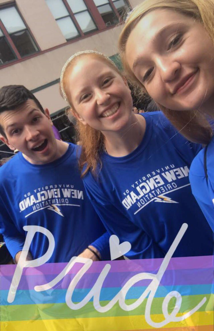 Yesterday a group of our students, faculty, friends, &amp; family marched in the Portland Pride Parade! #UNE #lifeatUNE #pride #PrideMonth <br>http://pic.twitter.com/RYKsey5T6D