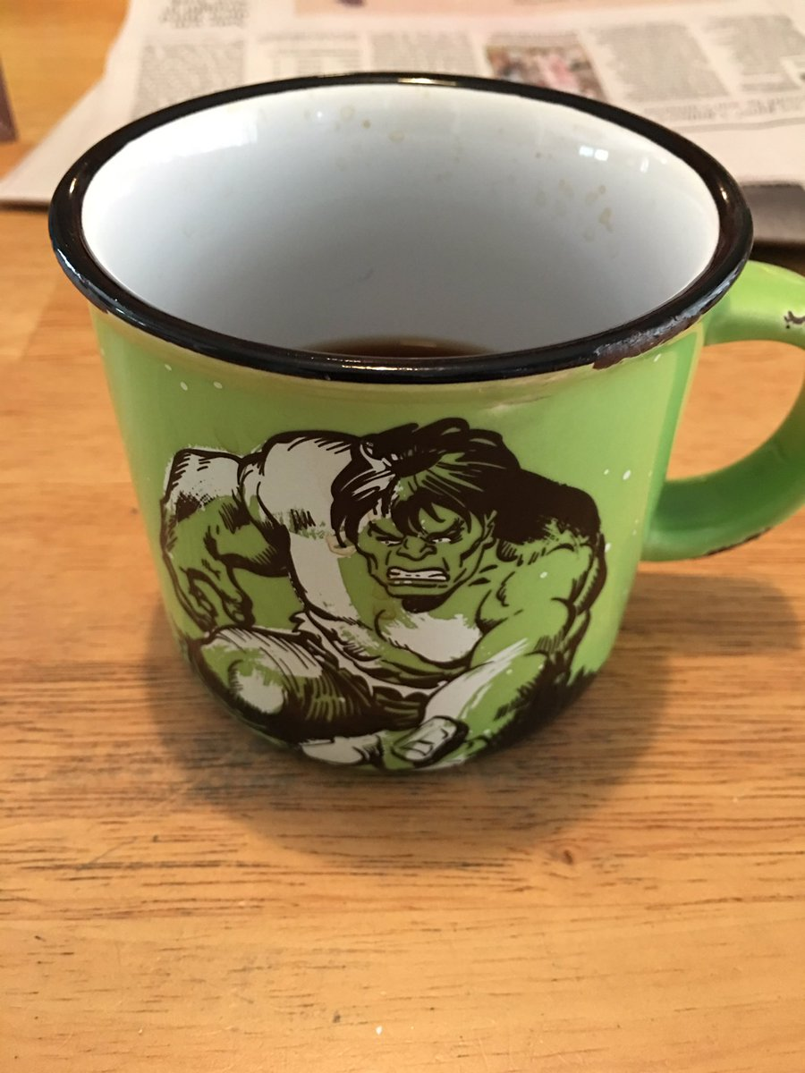 My coffee tastes&quot;incredible&quot; this morning! Thanks @pugsnpenguins ! #hulk #ourpalsal<br>http://pic.twitter.com/0bmpQjn5nL