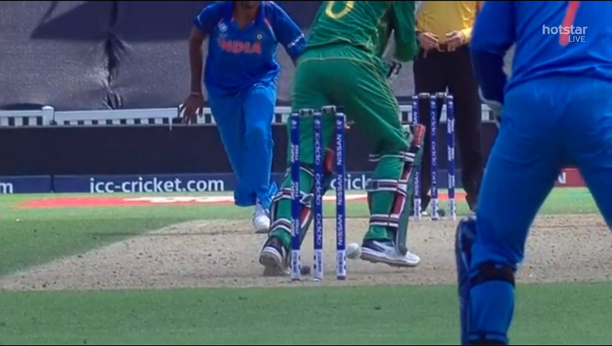 Ball hits the stumps and nothing has happened to the stumps...