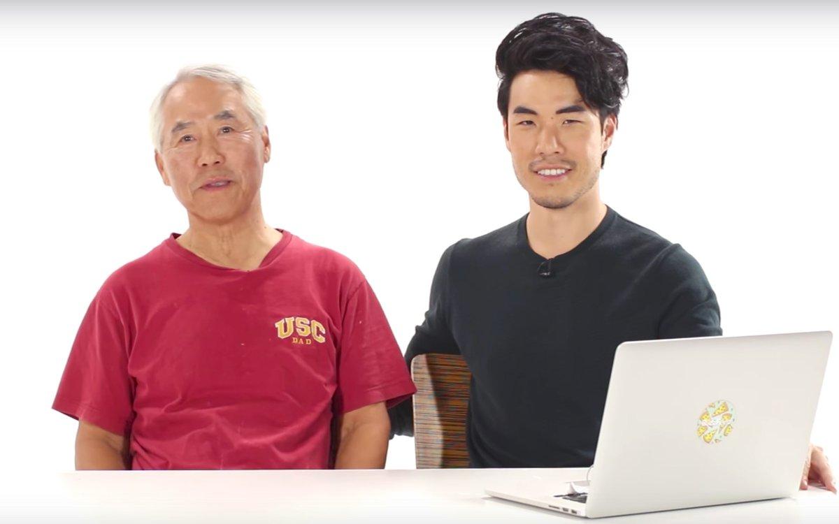 "Eugene Lee Yang on Twitter ""[calls Dad] ME HappyFathersDay"