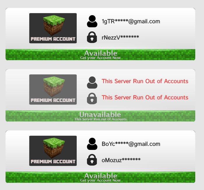 free minecraft account list 2017